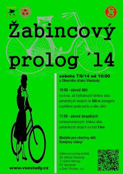 Žabincový prolog 2014 (plakát)