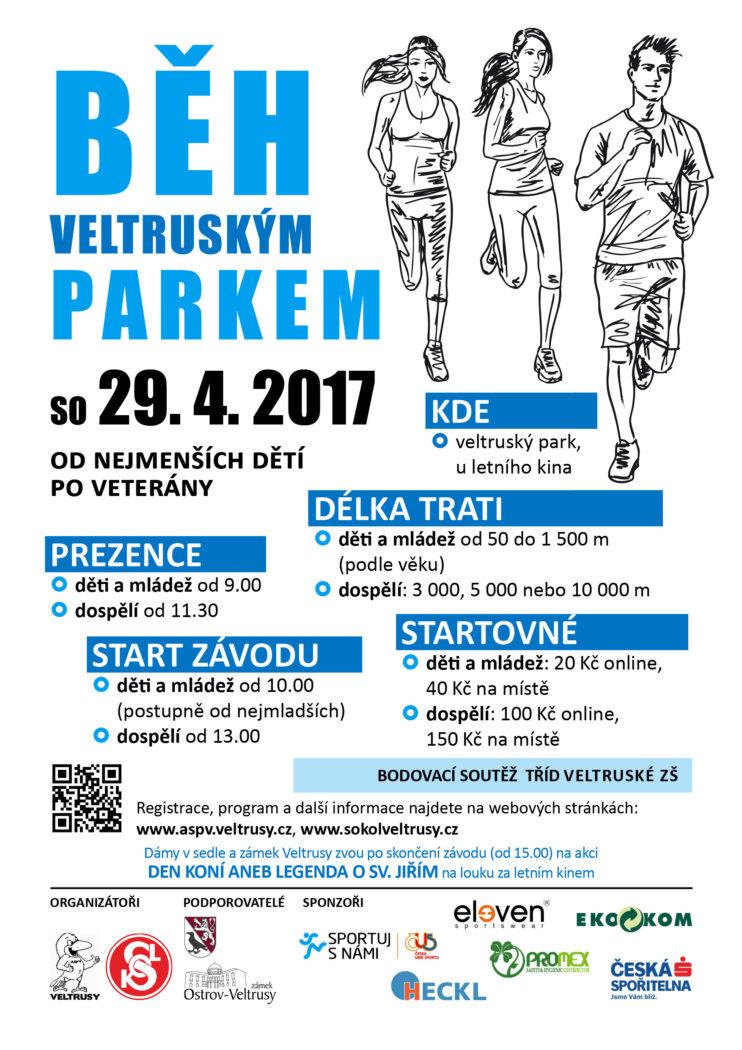 Běh veltruským parkem 2017 (plakát)